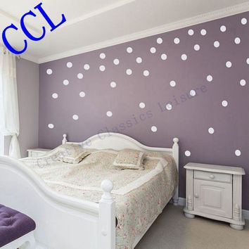 Free shipping Polka Dot wall stickers home decor. polka dot art wall decals - circle decals for walls, f2074