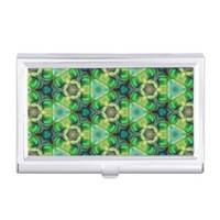Paua Shell Kaleidoscope Business Card Holder
