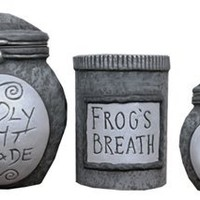 Neca Nightmare Before Christmas Ceramic Storage Jars set of 3
