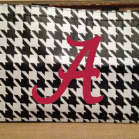 Houndstooth Tote Bag  Alabama Roll Tide Personalized for FREE