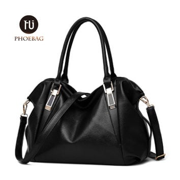 Women fashion leisure Hobos shoulder bag lady high quality leather messenger bag pure color elegant handbag  Crossbody Bags Z-32