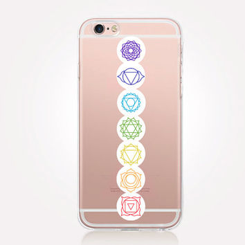 Transparent Chakra Phone Case - Transparent Case - Clear Case - Transparent iPhone 6 - Gel Case - Soft TPU Case - Samsung S7