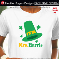 St Patrick's Day Teacher Shirt - Personalized St. Patrick's Day Shirt - Personalized St Patrick's Day Outfit