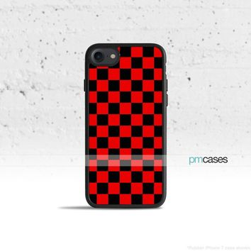Checkerboard Red & Black Phone Case Cover for Apple iPhone iPod Samsung Galaxy S & Note