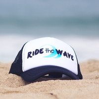 "Surf Lovers ""Ride the Wave"" Trucker Hat"