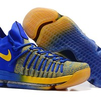Nike Mens Kevin Durant 9 Royal Blue/Yellow Basketball Shoe US7-12
