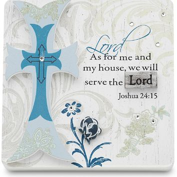 As for me and my house we will serve the Lord Plaque