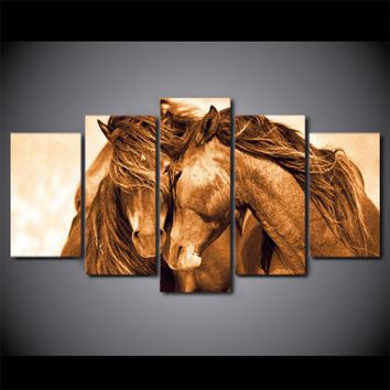 Horse Love modern canvas painting wall picture for living room