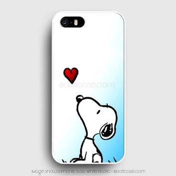 snoopy love heart iPhone 5s Case, iPhone 5 Cases