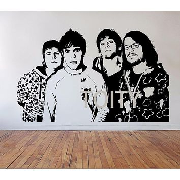 Fall Out Boy Wall Stickers Poster American Rock Band Vinyl Decals Pop Punk Music Art Decor Dorm Home Room Interior Mural