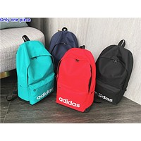 ADIDAS hot seller casual men's and women's shopping bag fashion printed simple backpack