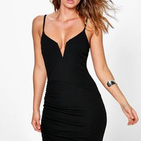 Sandir Plunge Wrap Bodycon Dress