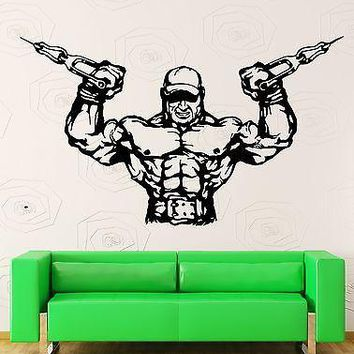 Wall Stickers Vinyl Decal Bodybuilder Bodybuilding Fitness Cross Fit Unique Gift (z2201)