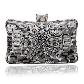 Rhinestone Women Evening Bag Diamonds Purse Handbags Chain Shoulder