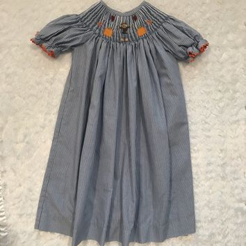 Sage & Lily Fall/Halloween/Thanksgiving Smock Dress; 4T