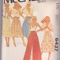70s vintage pattern for boho tiered skirt in 2 lengths young junior teen size small waist 24-25 McCall's 6437 CUT and COMPLETE
