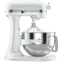 KitchenAid RKP26M1XWH Pro 600 Stand Mixer 6-qt White Super Big Large Capacity
