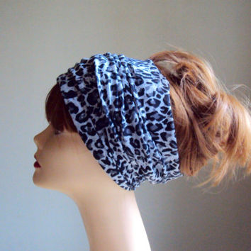 Leopard Namaste HeadBand Wide Dreadlock HeadBand Tube Bandana Biker Headband Unisex Headband Cowl Face Mask Yoga Headband