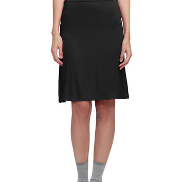 LE3NO Womens Lightweight Flared Midi Skater Skirt with Stretch (CLEARANCE)