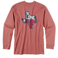 Rowdy Gentleman Long Sleeve Tee- Lone Star State of Mind