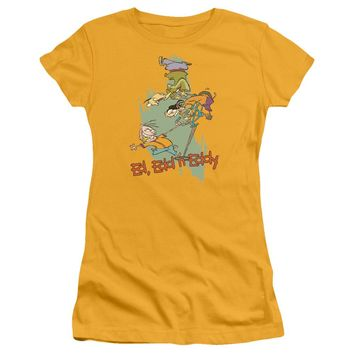 Ed Edd N Eddy - Free Fall Short Sleeve Junior Sheer