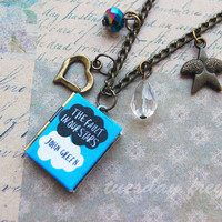 Beloved stories - a miniature book locket necklace based on John Green books