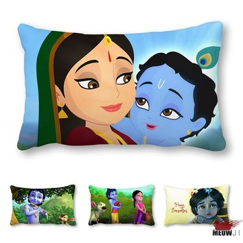 Little Krishna Multi Size Rectangle Throw Pillow Case Free Shipping