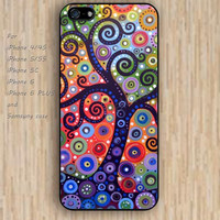 iPhone 5s 6 case cartoon abstract tree watercolor dream catcher colorful phone case iphone case,ipod case,samsung galaxy case available plastic rubber case waterproof B614
