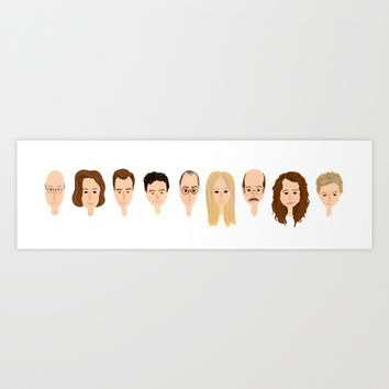it's arrested development Art Print by Maya Bee Illustrations