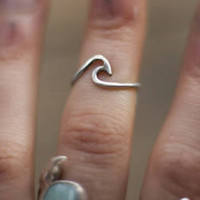 Sterling Silver Wave Ring, Sterling Silver Ring, Boho Rings, Boho Jewelry Silver Rings For Women Bohemian Jewelry Bohemian Ring Gift For Her