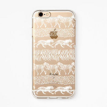 iPhone Case - 'Be Wild' - iPhone 6s case, iPhone 6 case, iPhone 6+ case - Clear Flexible Rubber TPU case J38