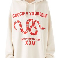 Gucci Guccify Yourself Snake Print Hooded Sweatshirt   Nordstrom