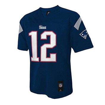 Tom Brady #12 New England Patriots NFL Youth Mid-tier Team Jersey Navy