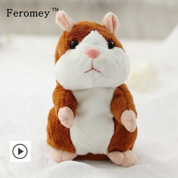 Hamster Plush Toys Mouse Pet Sound Record Doll Children Kids Education Toys