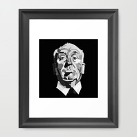 Alfred Hitchcock / Geometrical portrait of the The Master of psychological thriller. Framed Art Print by The Modern Era