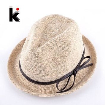 PEAP78W Fashion Spring Solid Straw Sun Hats With Bow-knot Ribbon For Women Summer Beach Caps Men Unisex Panama Chapeu De Praia Ete Femme