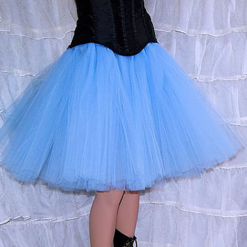 Baby Pastel Blue Romance Knee Length TuTu skirt adult All Sizes MTCoffinz