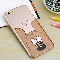 Fashion Cartoon Series iphone 6 Protective Shell Golden Case for Apple iphone 6