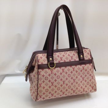 Auth Louis Vuitton Monogram Mini Canvas Josephine PM Hand Bag Cherry 8B150180#