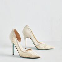 Luxe A Toast with the Most Heel in Champagne by Betsey Johnson from ModCloth