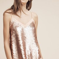 Rose Gold Sequined Cami