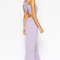 Purple Floor-Length Crossback Maxi Dress