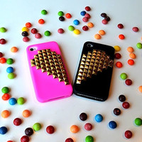 BFF Hot Pink and Black iPhone 4