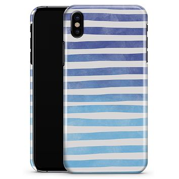 Blue WaterColor Ombre Stripes - iPhone X Clipit Case