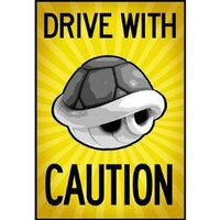 (13x19) Drive With Caution Shell Poster