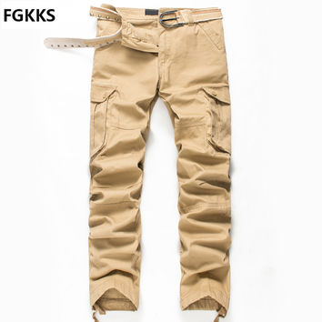 2016 New Arrival High Quality Autumn Style Top Fashion Clothing Solid Mens Cargo Pants Cotton Plus Size Men Trousers Joggers