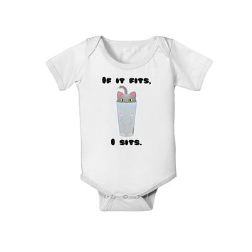 If It Fits - Cute Cat Design Baby Romper Bodysuit by TooLoud