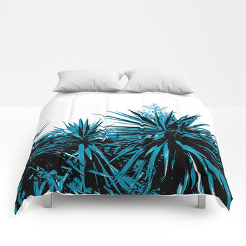 Yucca Trees Comforters by ARTbyJWP