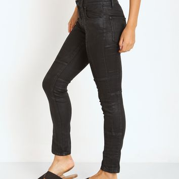 Free People Coated Low Rise Jillian Skinny Pant Black OB415119 - Free Shipping at Largo Drive