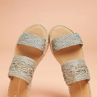 Anthropologie Freya Espadrille Slide Sandals